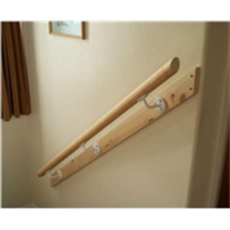 Banister Brackets Mopstick Bannister Rail 50mm Diameter Futted On 1 X 3 Timber
