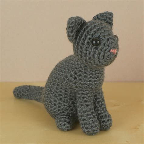 pattern cat crochet amicats single coloured cat amigurumi crochet pattern