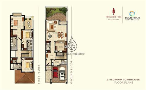 3 bedroom townhouse plans jumeirah golf estates dubai villas townhouses apartments