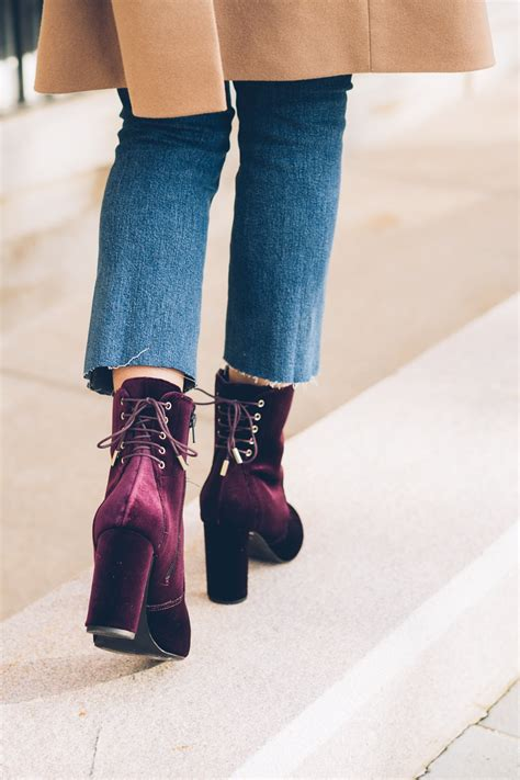 7 Gorgeous Pairs Of Lace Up Boots by Product Velvet Ankle Boots Dune