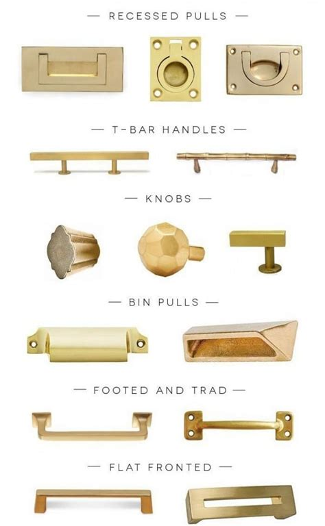 Knobs And Hardware by Design In Mind Gold And Brass Coats Homes Highland