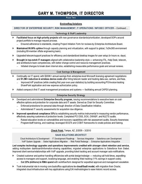 It Example Resume Best It Manager Resumes 2016 Writing Resume Sample