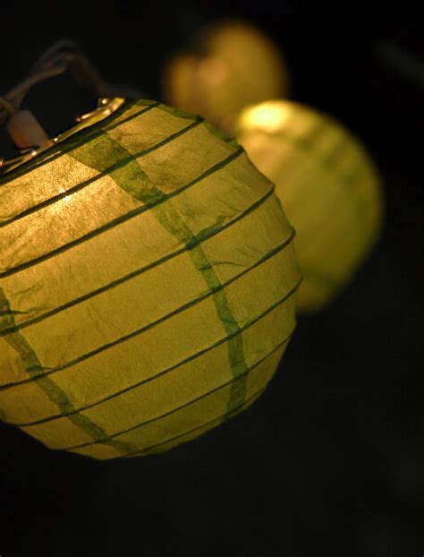 How To Make Paper Lantern String Lights - 4 quot green paper lantern string lights 10 lanterns
