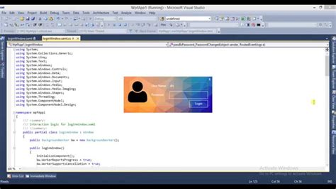 design login form in wpf login form with wpf youtube