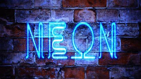 create  neon graffiti intro youtube