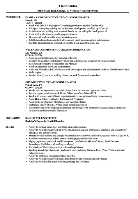 Cover Letter For Community Outreach Position by Community Outreach Specialist Resume Visual Merchandiser
