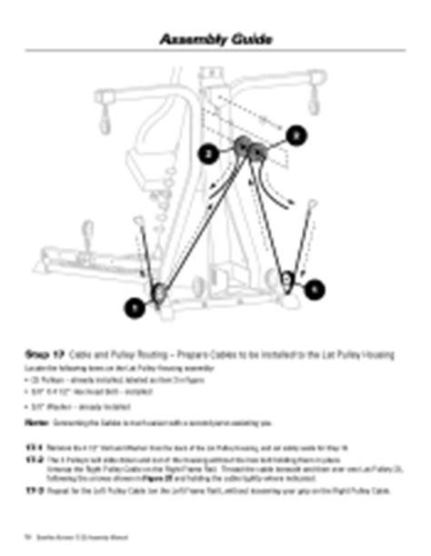 bowflex xtreme 2 se assembly manual page 22