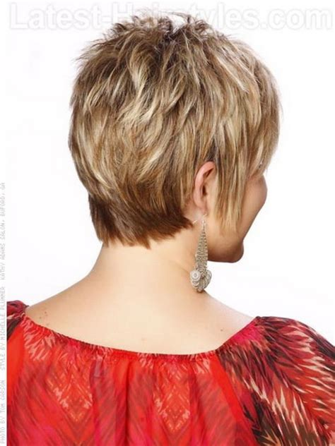 stacked cut hairstyle for older women short stacked haircuts for women
