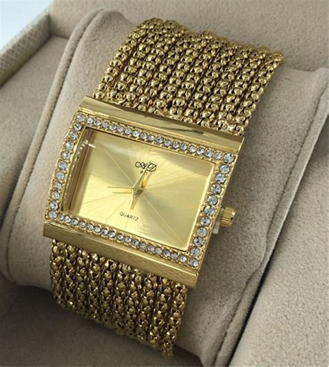 Jam Tangan Nano Quartz fashion stylis bracelet quartz golden