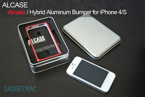 Apple Iphone 4 4s Hybrid Metal Aluminium Bumper Leather Back Casing 1 alcase hybrid aluminum bumper for iphone 4s review gadgetmac