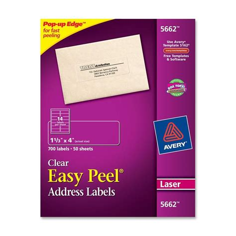 avery 5662 template for word avery easy peel address label ld products