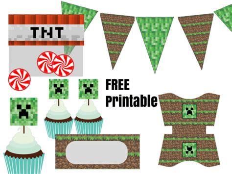 imprimible de minecraft para cumpleanos kits para imprimir gratis imprimibles minecraft manualidades infantiles