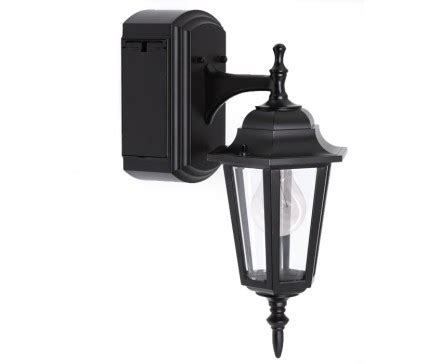 Reversible Wall Lantern With Built In Electrical Outlet Outdoor Light With Gfci Outlet