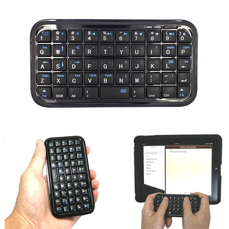 black ultra slim mini bluetooth 3 0 keyboard for iphone 7 plus samsung s7 ps3 pc pda qjy99