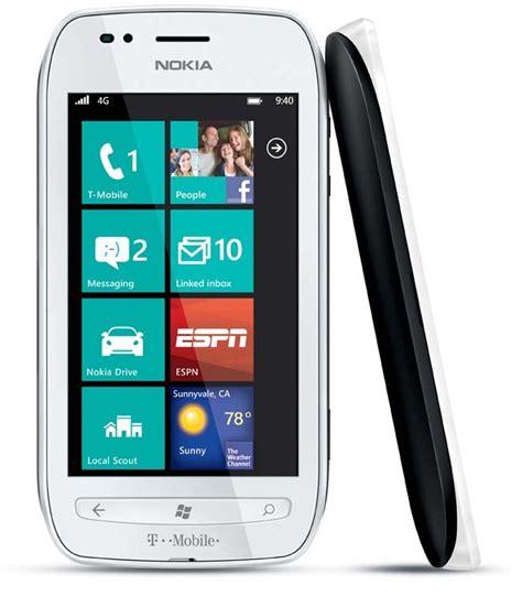 nokia cell phones t mobile nokia lumia 710 wifi white 3g windows phone 7 tmobile