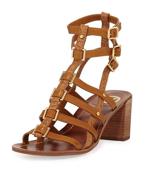 burch gladiator sandals burch reggie leather gladiator sandal in brown lyst