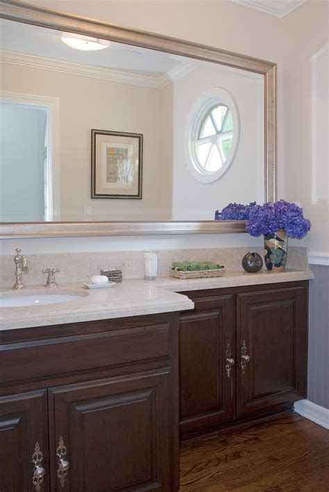 Bathroom Vanity Mirrors Ideas Phenomenal Large Framed Bathroom Mirrors Decorating Ideas