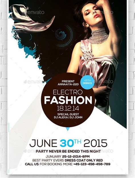 templates for fashion show flyers 30 best fashion flyer templates