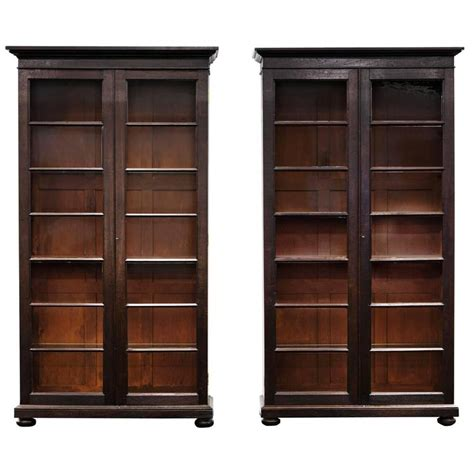 Display Cabinets India Pair Of Anglo Indian Glazed Display Cabinets Or Bookcases