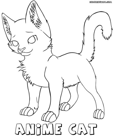 Anime Cat Coloring Pages Coloring Pages To Download And Anime Cat Coloring Pages
