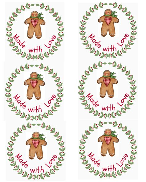 free printable gingerbread man labels free christmas printables cottage at the crossroads