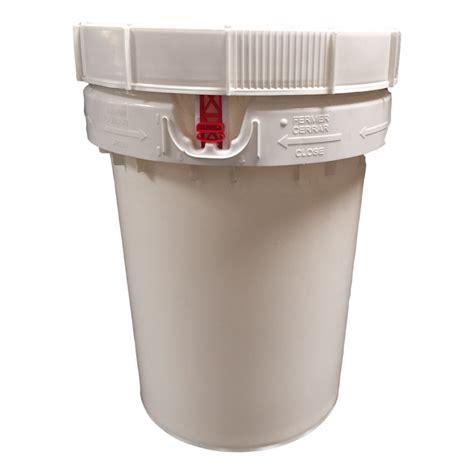 10 gallon food grade 12 gallons w top un new white food grade
