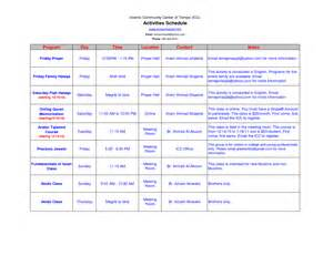 Schedule Of Activities Template by Best Photos Of Activity Itinerary Template Sle Travel