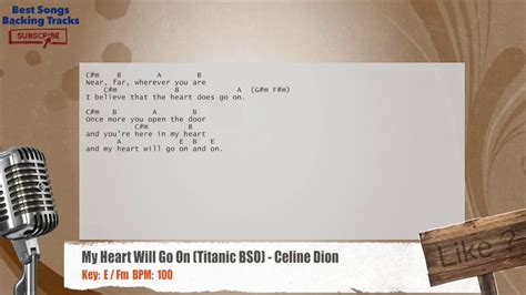 tattooed heart backing track my heart will go on titanic bso celine dion vocal
