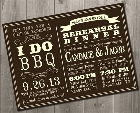 Backyard Bbq Wedding Invitation Wording Bbq Barbecue Wedding Invitations