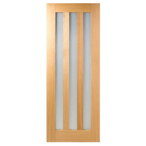 Interior Oak Doors With Glass Frosted Interior Doors Lpd Utah Oak Frosted Glass Unfinished Door A Ss 1 Inspiration