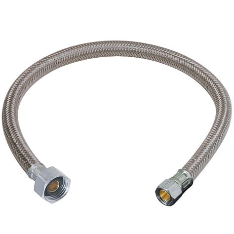 3/8 in. Compression x 1/2 in. FIP x 20 in. Braided Polymer Faucet Connector B1 20A F   The Home