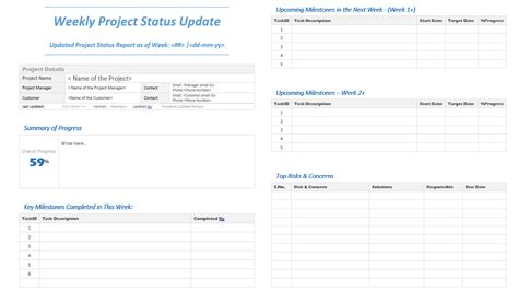 project status report template download now teamgantt