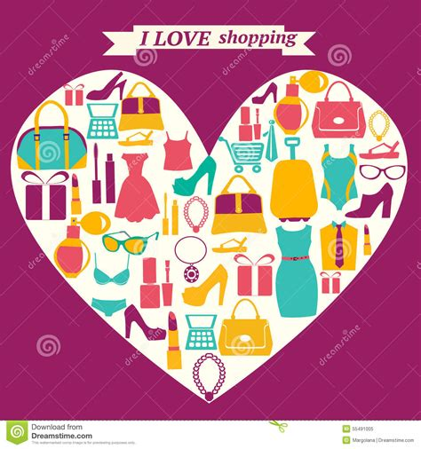 i love shopping icon and concept stock vector image gallery i love shopping icons