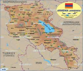 Armenia World Map by Map Of Armenia Republic Of Armenia Maps Mapsof Net