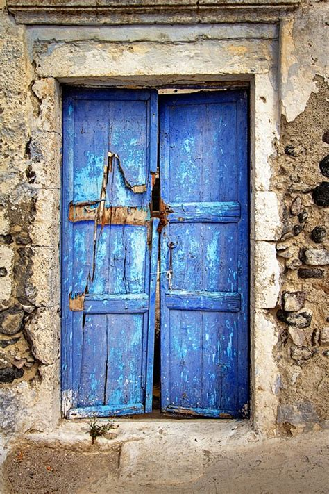 blue door the blue door santorini greece doors
