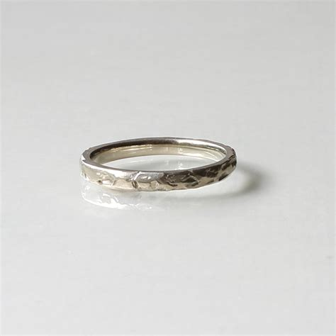 Handmade Wedding Band - textured handmade wedding band by kendra renee