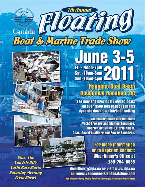 boat storage vancouver island 7th annual nanaimo floating boat marine trade show van