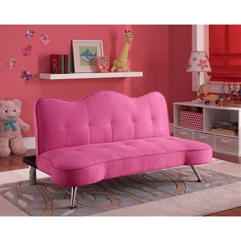 futon bedroom convertible sofa bed futon lounger pink