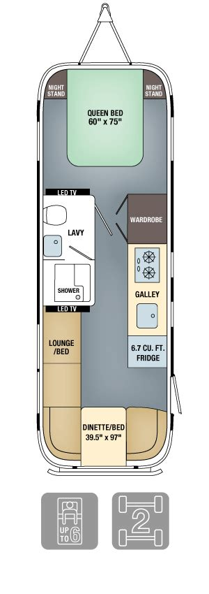 airstream floor plans airstream land yacht floor plan specs airstream
