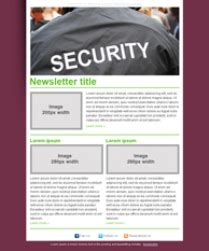 security company template free security company newsletter templates