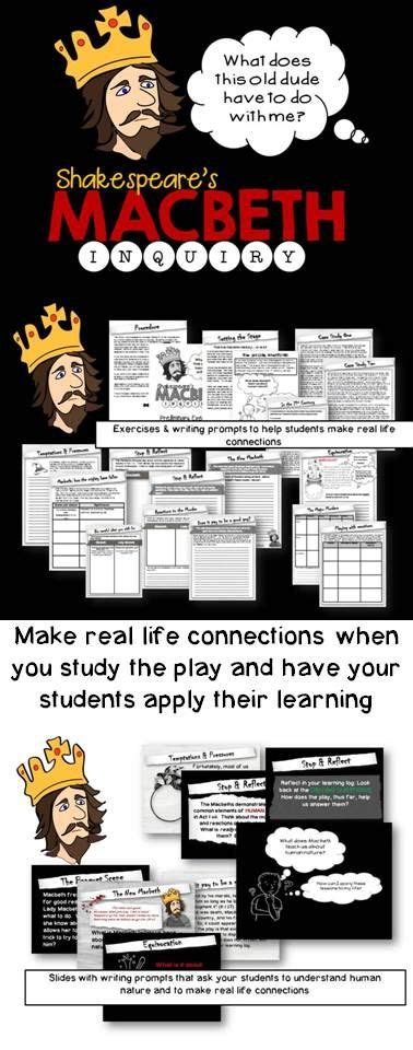 Macbeth Essay Assignments by Macbeth Activities Assignments That Make It Real