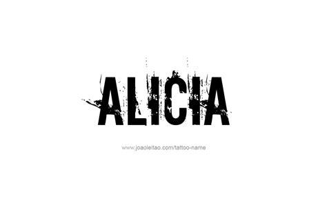 alicia  tattoo designs