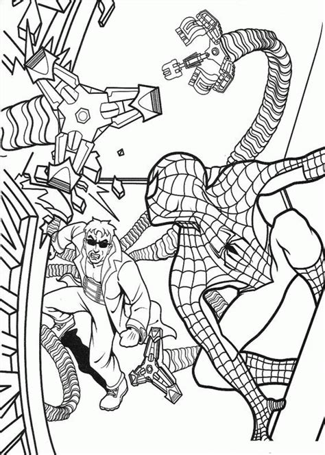 spectacular spiderman coloring pages free super heroes