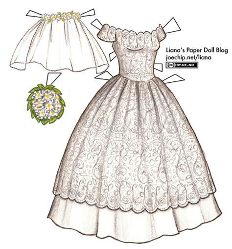 Paper Dolls With White Wedding Dresses wedding dress liana s paper dolls
