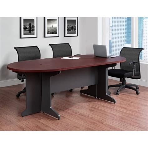 Small Conference Table Altra Furniture Pursuit Small Conference Table In Cherry And Gray 9349096