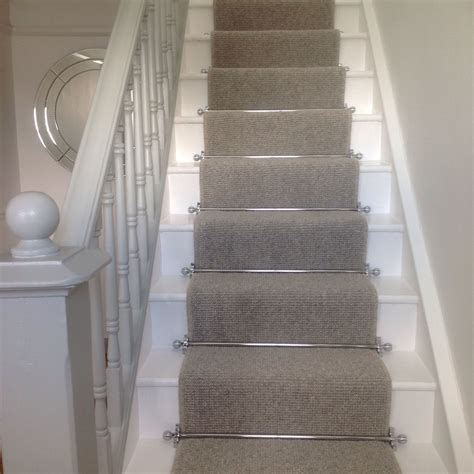 carpet for hallway runner on stairs with grey carpet with chrome bars for