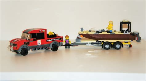 lego boat and trailer instructions lego ideas lego city sports 4x4 with speed boat