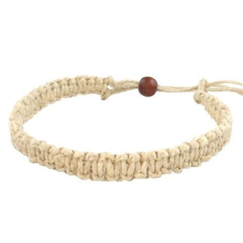 Handmade Hemp Bracelets - hawaii hemp handmade bracelet or anklet with hawaiian koa wood