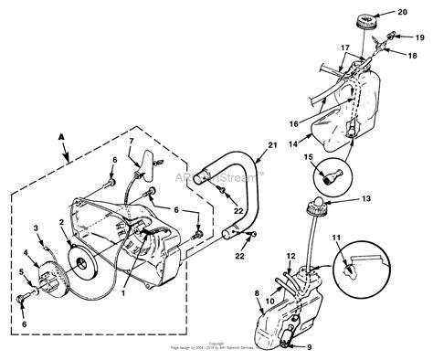 homelite chainsaw parts diagram homelite 2 xl chain saw ut 10754 parts diagram for