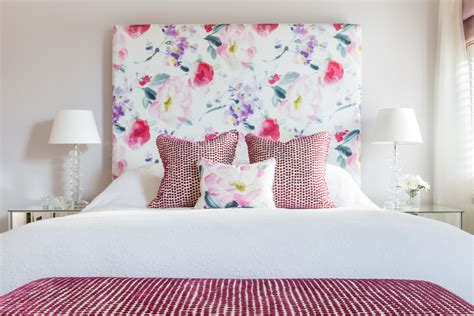 floral headboard bedroom arranging furniture diy ideas photos